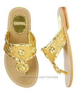 Золотые  сандали Gymboree, пролет с размером