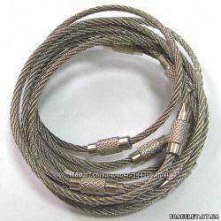 Стальное трос-кольцо для ключей