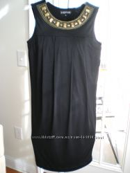 Стильное черное трикотаж платье Rampage USA 85y. e. р44-46 - Распрдажа