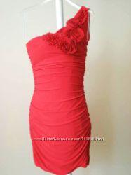 Красное коктельное платье Body Cental, США 90y. e, р. 42-46 Распродажа
