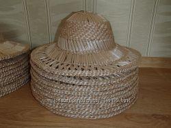 Шляпы соломенные. Есть детские размеры