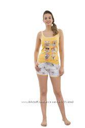Женская трикотажная пижама майка и шорты HAYS 3564, размер L