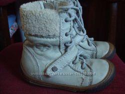 Итальянские кожаные ботиночки сапожки Gattino, р. 23, стелька 15 см
