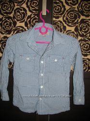 Много фирменных рубашек мальчику 3-6лет