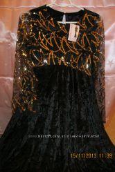 Нарядное платье для беременных, бархат, пр-во Стиль мамы, Украина