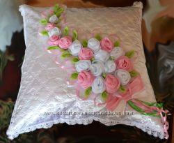 Нарядная наволочка для подушки невесты