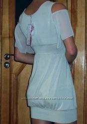 Оригинальное летнее платье De Cuba нежно салатового цвета, размер XS - S
