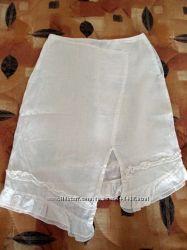 Очень стильная льняная юбка от ТМ Spring Fashion. XS.