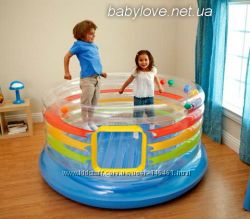 Детский надувной батут с мячами INTEX 48264