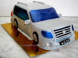 Торт  Машина  3-D и торт с машинкой, новые фото, все модели машин