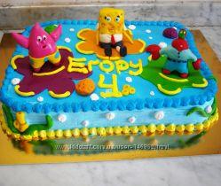 торт  Губка Боб Все виды дизайна под заказ