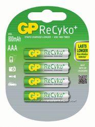 Аккумуляторы GP Recyko ААА 800 mAh
