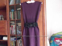теплое платье- сарафан