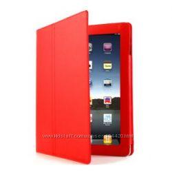 Чехол для  iPad 2 Cover Genuine Apple  прошит красный белый черный