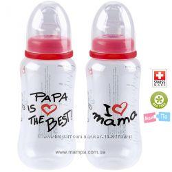 Бутылочки антиколиковые BiBi I Love Mama и Papa Is The Best