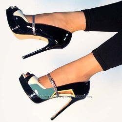 Шикарные туфли, натур кожа, 23. 5 см