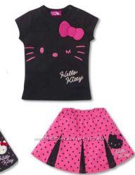 костюм летний. юбка с футболкой Хеллоу Китти. Hello Kitty. Есть размеры