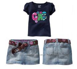 комплект летний GAP. футболка и джинсовая юбка. в наличии размеры