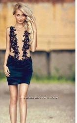 Элегантное платье с кружевом макраме