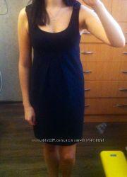 Черное весенние платье Р. S - M ТМ Stretch Вьетнам. одето 1 раз.