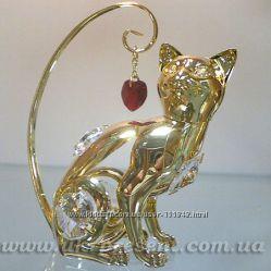 Фигурка декоративная Кошка с кристаллами SWAROVSKI