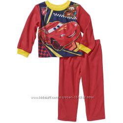 Теплая яркая  флисовая пижамка Тачки 3Т и  4Т