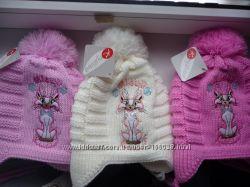 Распродажа Теплые польские  шапки с шарфами