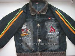 Джинсовый пиджак мальчику на 2-3года