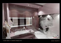 дизайн ванной комнаты, раскладка плитки, помощь с подбором