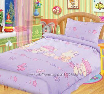 Детские постельки в кроватку Непоседа