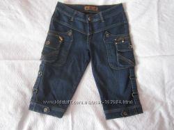 Зимние джинсовые бриджи на флисе, р. 29