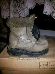 Натуральный  теплющие нубуковые ботинки на цигейке