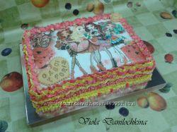 Торт с вафельной картинкой  Винкс и Динь-Динь, Киев-Соломенка