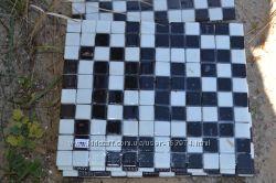 Мозайка черно- белая стекло