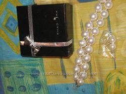 жемчужное ожерелье и серьги