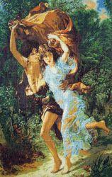 Вышивка крестом Бегущие от грозы