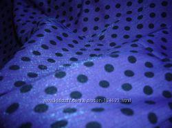 Фиолетово-сиреневая ткань в горох с отливом, переливами временСССР. Винтаж