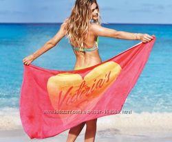 Эксклюзивное яркое пляжное полотенце Victorias secret, в наличии. оригинал