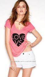 Эксклюзивные футболки Victorias secret, разные цвета и размеры, оригинал