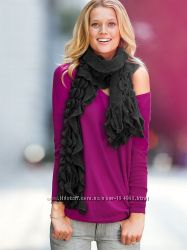 Модные шарфики Victorias secret, черный и белый, в наличии, оригинал