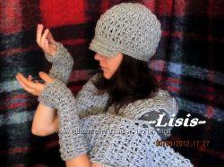 Осенне-зимние вязанные шапочки