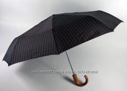Мужские клетчатые зонты  Zest, полный автомат, дер. ручка
