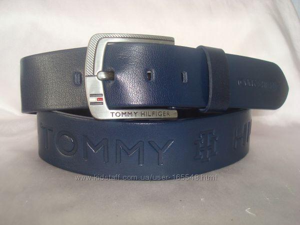 Модные синие кожаные ремни TOMMY HILFIGER