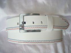 Модные белые кожаные ремни TOMMY HILFIGER