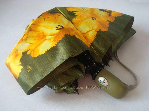Компактный сатиновый женский зонт ZEST, 4 слож полный автомат. Цена 650 грн