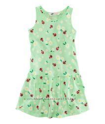 Летнее платье-сарафан хлопковое р. 98-116 H&M