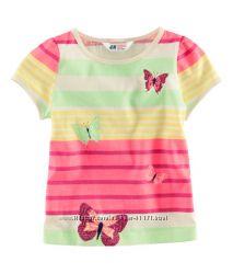 Летняя футболка хлопковая р. 98-104 H&M