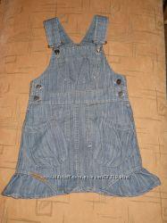 Сарафан джинсовый для девочки, р. 98-104