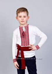 Трикотажные вышиванки для мальчиков