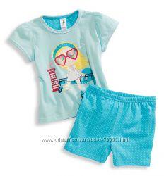 Летние пижамки для девочек, одежда для дома и улицы C&A Германия, р. 92